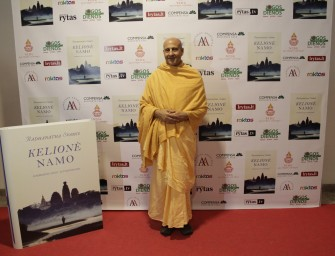 Pasaulyje garsus jogas Radhanatha Svami Lietuvoje pristatė savo autobiografinę knygą