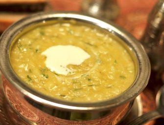 Kreminė rausvųjų lęšių ir ryžių sriuba