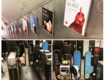 Veganai metė iššūkį metro stoties lankytojams