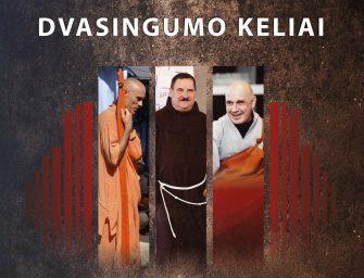Viešai dikusijai susitinka zen budistų vienuolis, katalikų kunigas ir krišnaitų Svamis